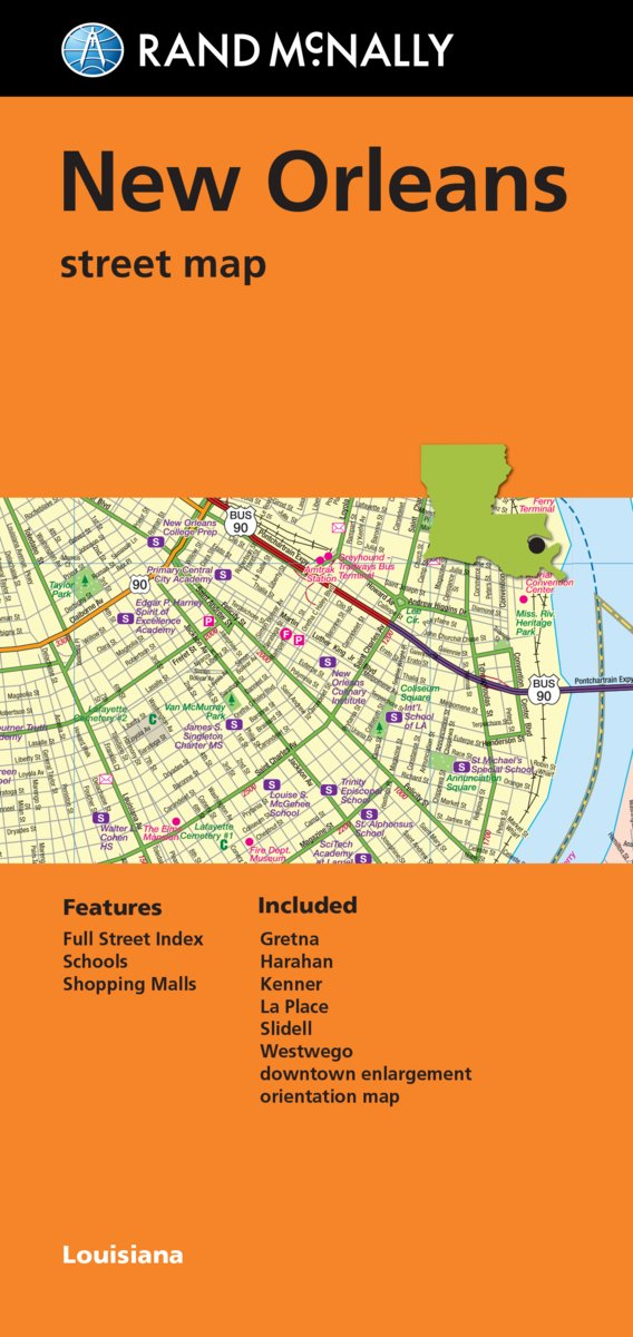 Folded Map: New Orleans Street Map: Rand McNally: 9780528009167 ...