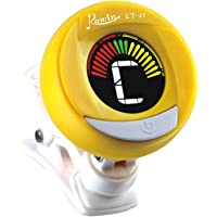 Clip on guitar tuner - with batteries included for guitar, violin, bass, viola, ukulele tuner. Professional grade tuner - ROWIN LT-21 (yellow)