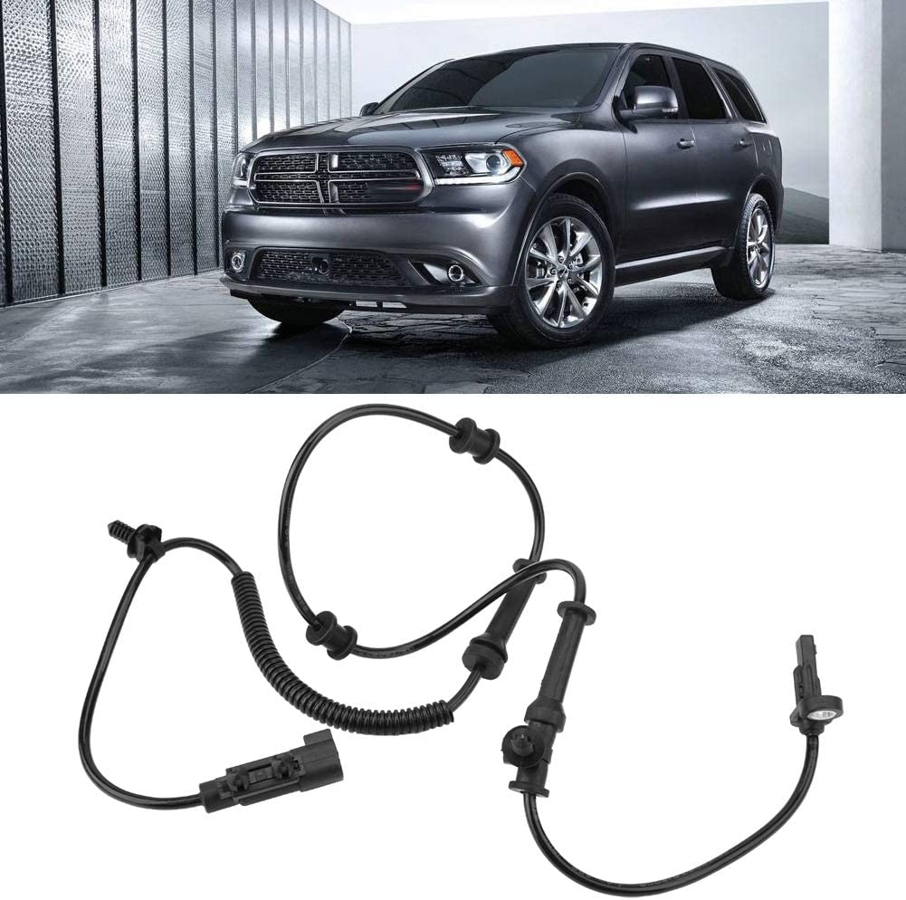 Hlyjoon 56029447AF 56029447 Car ABS Vehicle Front Wheel Speed Sensor Automotive Vehicle ABS Wheel Speed Transducer Wiring Harness Speed Detector for Dodge Jeep Durango Grand Cherokee 2011-2014