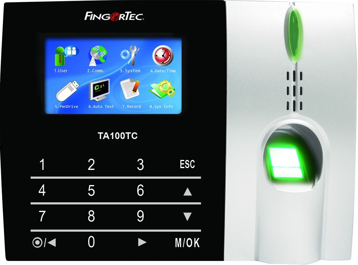 Fingertec TA103TC Premier Color Multimedia Fingerprint Time Attendance System New Algorithm Improves Speed and Accuracy, Process up to 2,800 employees! Includes A a USB to Serial Converter by Fingertec
