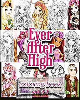 ever after high coloring books coloring book vol1 2 stress relieving - Ever After High Coloring Book