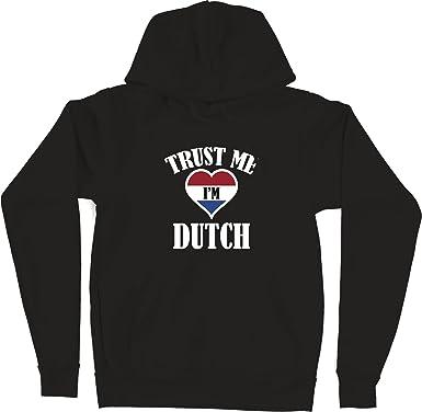 VectorPlanet Trust Me Im Dutch Hoodie White