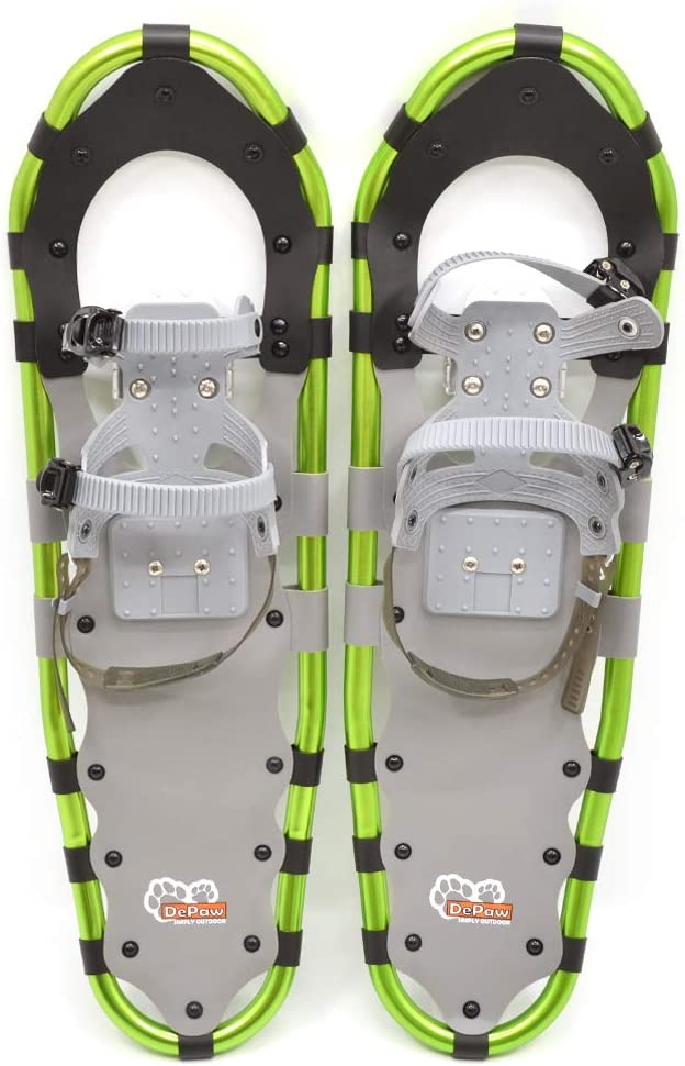 Lixada Raquettes /à Neige en Aluminium avec des B/âtons Ajustables pour Homme