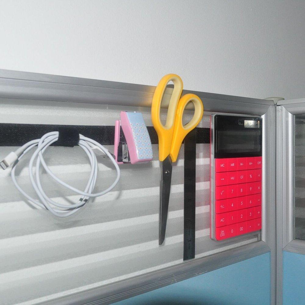 Lekou 0.8 Inch 100% Nylon Adhesive Hook and Loop Fastener Roll Tape Black - 16.5 Feet by Lekou (Image #6)