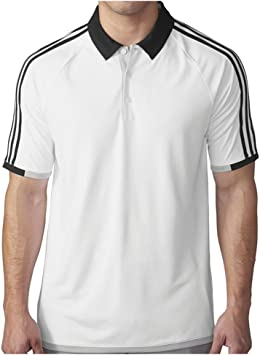 adidas Golf Mens Climachill 3-Stripes Competition Polo Shirt ...