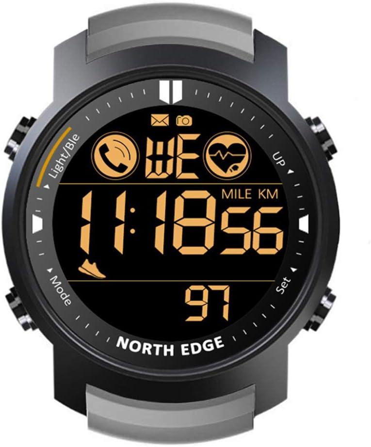 NORTH EDGE Reloj Electrónico Para Deportes Al Aire Libre Modo De Espera Ultra Largo Bluetooth Frecuencia Cardíaca Impermeable Reloj Inteligente Multifuncional Reloj Ultra Claro A Prueba De Agua