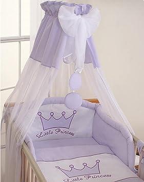 Tour de lit bébé - 120*60 ou 140*70 – Princesse mauve: Amazon.fr ...
