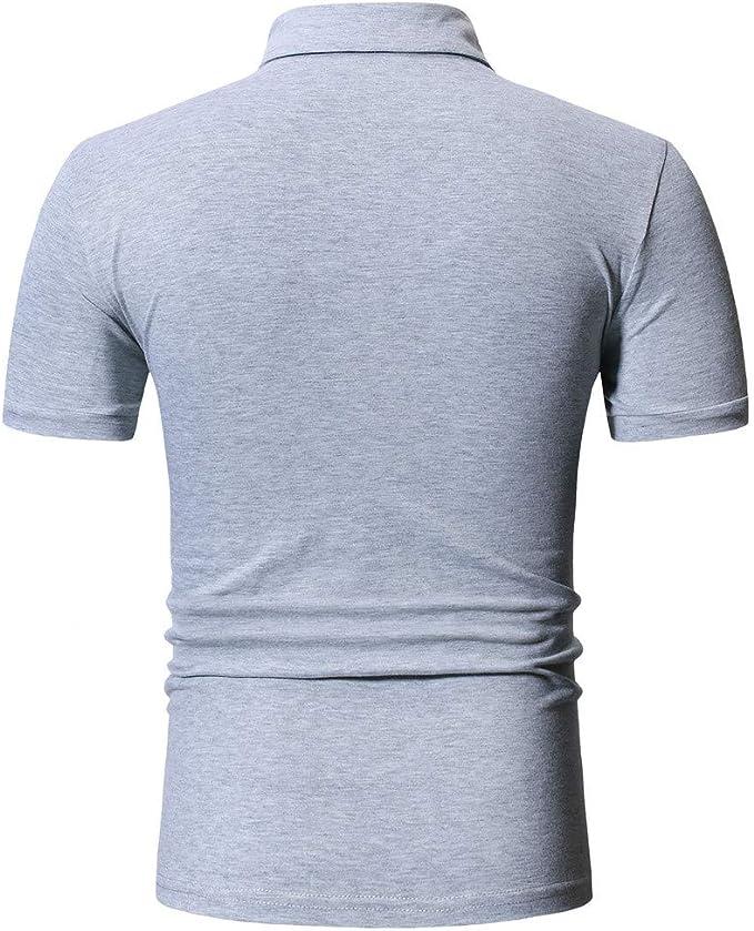 Camiseta Polos Hombre Ropa Deportiva para Hombre Casual Manga Corta Camiseta Soltero Botón Camisas Manga Corta Linda T-Shirt Suelta Redondo Casual Tops Sudadera con Capucha Jodier: Amazon.es: Deportes y aire libre