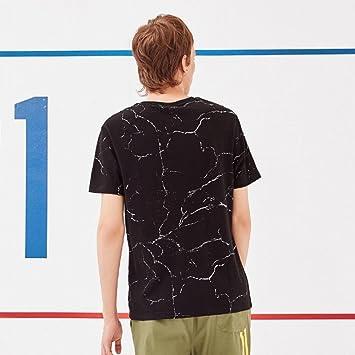 MN Summer Round Neck T-Shirt Modelo de mármol de la Moda de los Hombres