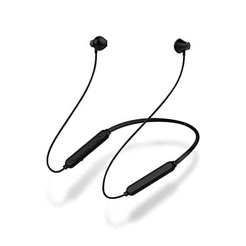 MOOSENG Bluetooth Headphones, 10 Hrs Playtime CSR Neckband Wireless Sports Earphones with Mic, IPX6 Waterproof HiFi Stereo Bass Headset Magnetic Comfy Earbuds, 13 MM Driver Secure Fit For Running (Black)