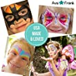 Ava and Frank 16 Color Non-Toxic Face Painting Kit, Body Paint Palette Set, 3 Brushes, 2 Sponges eBook for Kids