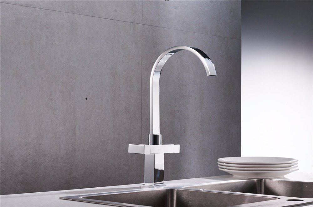 Commercial Single Lever Pull Down Kitchen Sink Faucet Brass Nordic Modern Minimalist Retro Chrome Stainless Steel Waterfall Pure Copper Bathroom Basin Faucet Hotel Kitchen Bathroom Dining Room