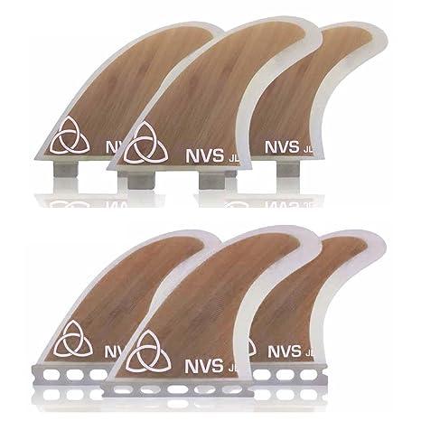 Naked Viking Surf Large GL Thruster Surfboard Fins (Set of
