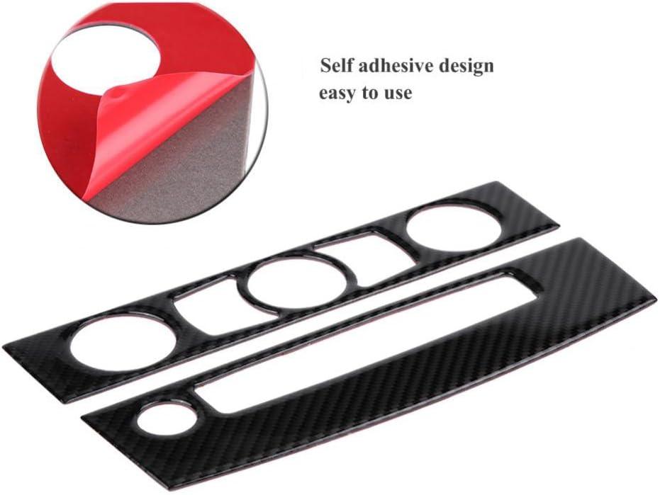 d/écoration de cadre de contr/ôle CD de panneau de commutateur de climatiseur Garniture int/érieure centrale de console de voiture en fibre de carbone C 2004-2007