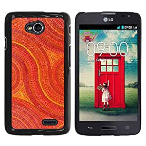 Paccase / SLIM PC / Aliminium Casa Carcasa Funda Case Cover para - Mosaic Pattern Art Floor Design Stones - LG Optimus L70 / LS620 / D325 / MS323
