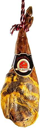 Lote (ENTREGA 24-72 HORAS) Paleta Serrana de Bodega entera (5kg aprox) + medias piezas de Chorizo (500g) + Salchichón (500g). La Teresina. Guijuelo.Salamanca.