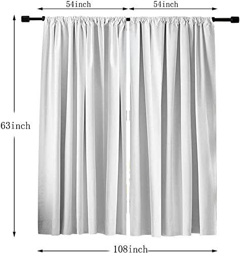 Misscc Blackout Curtains Light Blocking Window Treatments Draperies,Antique Map of The World Pattern Room Darkening Window Curtain