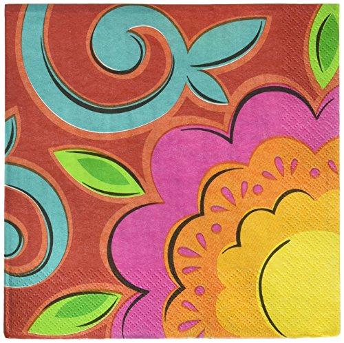 Fiesta Caliente Cinco de Mayo Party 2-Ply Luncheon Napkins Tableware, 36 Pieces, Made from Paper by Amscan -