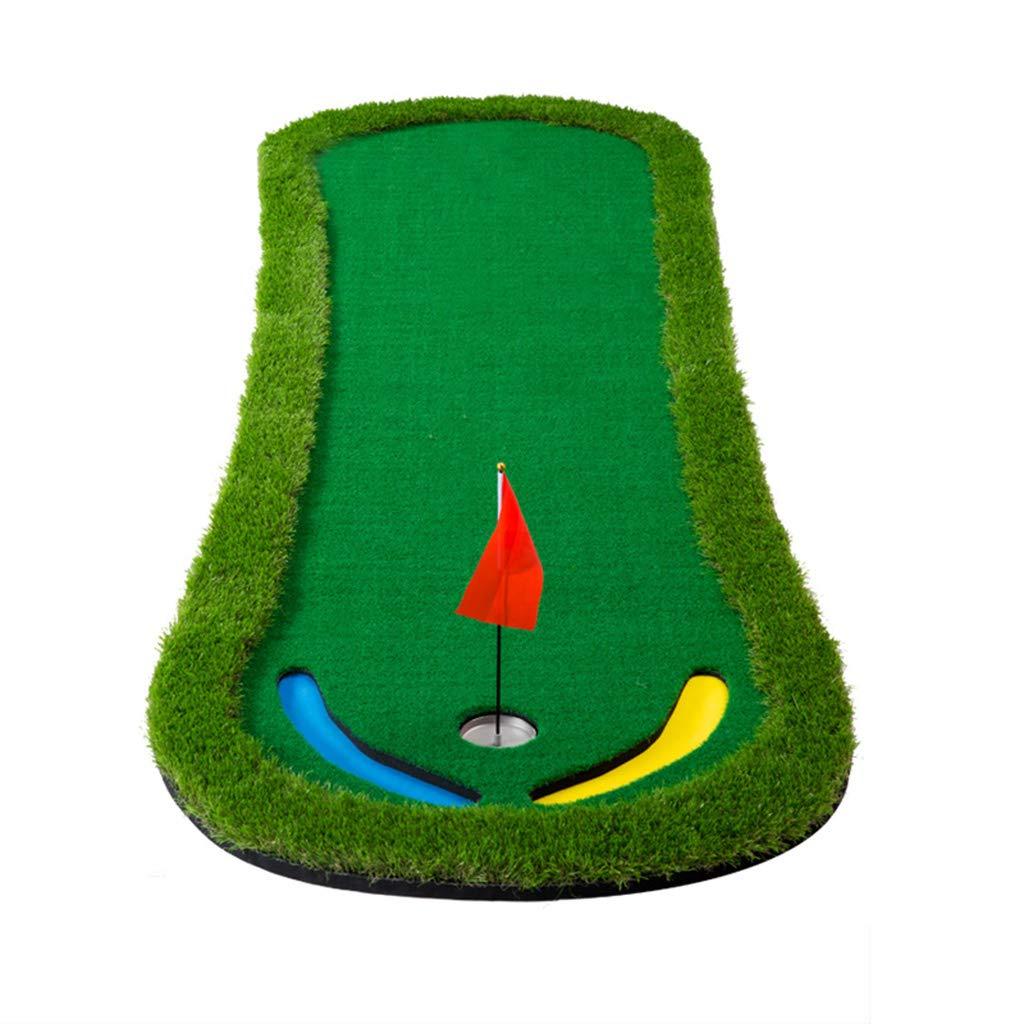 ゴルフフード 室内ゴルフパッティング練習オフィスホームベルベット緑のパター練習毛布   B07MDPR5CW