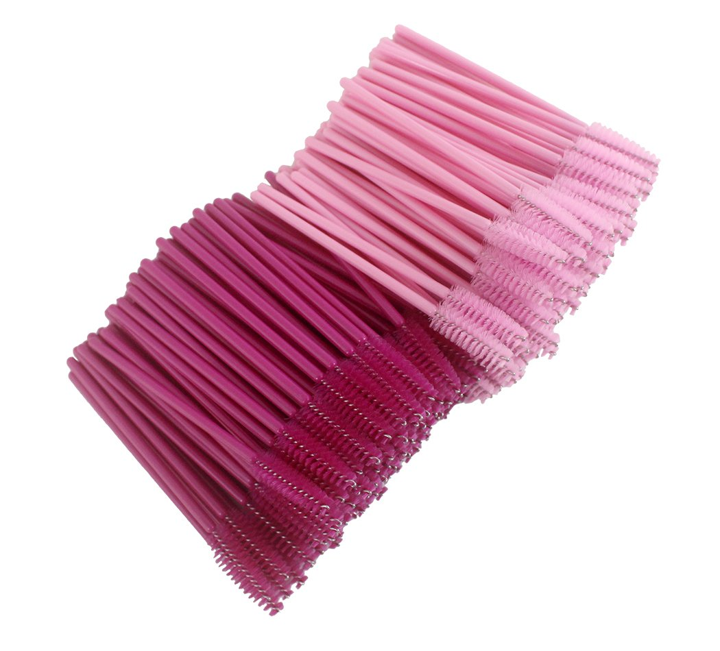 Xiaoyu 500PCS Multicolor Disposable Mascara Wands Eyelash Applicator Eyebrow Brush - Style A(500PCS)