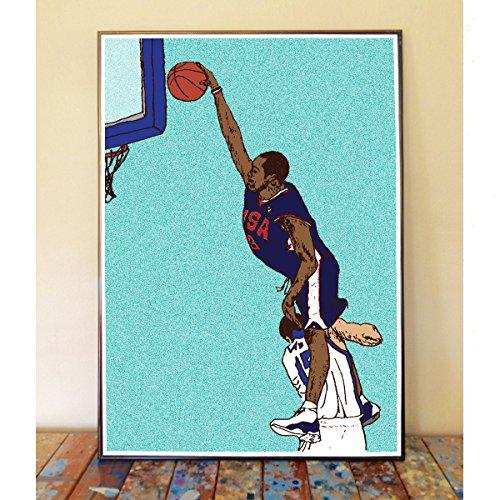 Vince Carter Olympic Dunk Original Art Print ()