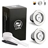 i Cafilas Reusable Capsules Stainless Steel Coffee Filters, 2PCS Refillable Pods for Original Series Nespresso Machines…