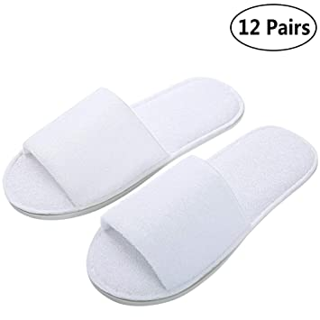 36be9f414ddb4 Amazon.com   Open Toe Terry Spa Slippers
