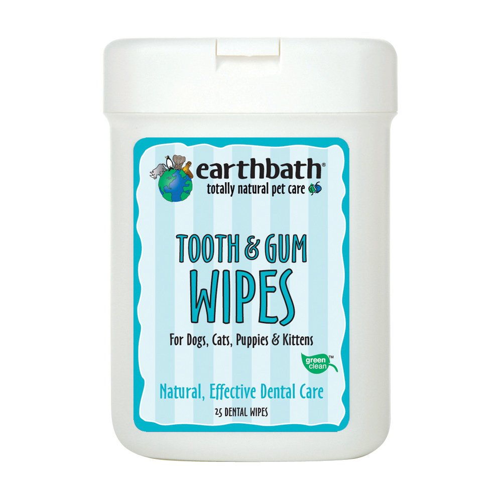 Pet Dental Care Supplies : Amazon.com: EARTHBATH 026362 25 Count Tooth and Gum Wipes for Dogs, Cats, Puppies and Kittens