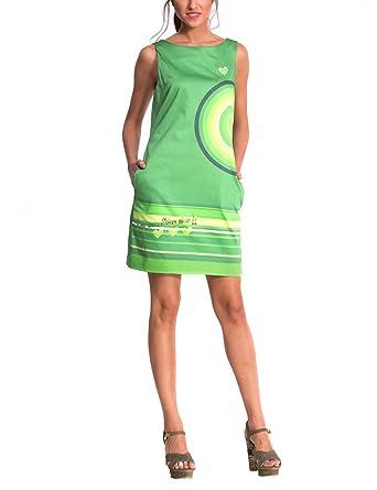 Kleid grun gestreift