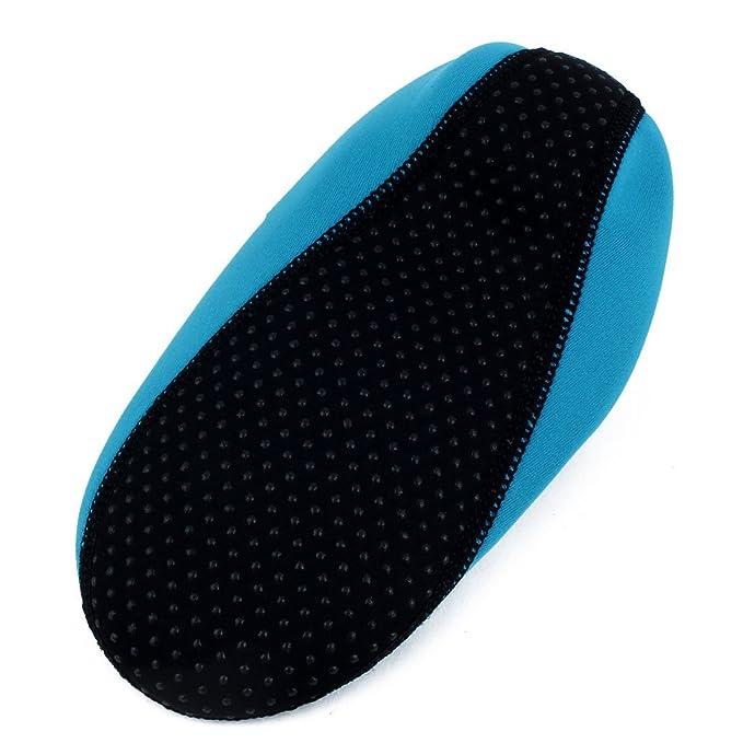 Amazon.com : eDealMax neopreno Actividades acuáticas piel buceo Con Snorkel buceo Calcetines Zapatos de voleibol de Arena de natación XL Azul del trullo ...