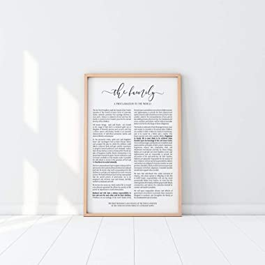 The Family Proclamation Print | LDS Poster | LDS Family Proclamation | LDS Home Decor No-Frame