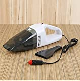 Car Vacuum Cleaner,Onshowy 12 Volt 60W Portable Mini Handheld Auto Vacuum Cleaner Auto Lightweight Cleaner Dustbuster Hand Vac (White)