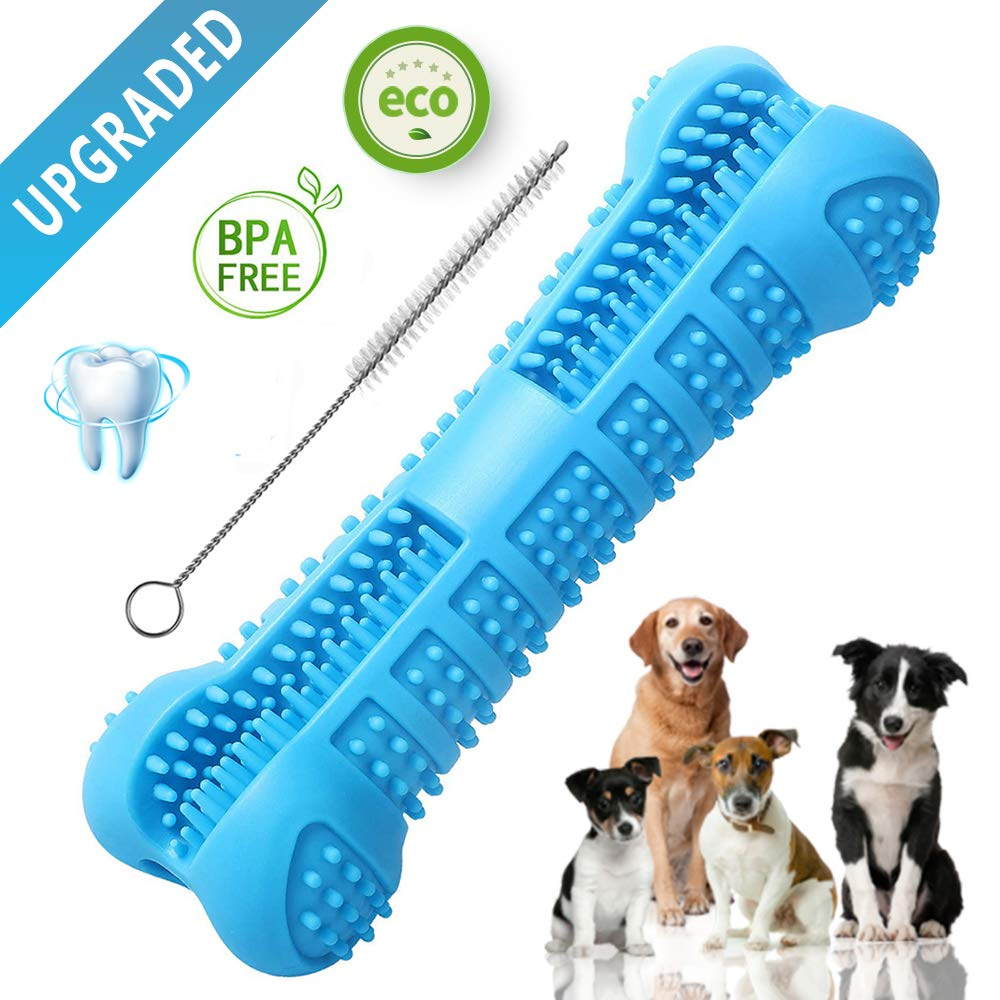 L&T Dog Toothbrush Toy, Topnotch Silicone Dental Care Tooth Brush for Dogs, Teeth Cleaning Stick for Pets,Soft and Gentle, Medium Size by L&T