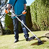 42.7cc 2-Stroke Pro Gas Powered Long Reach Pole Straight Shaft Trimmer and Brush Cutter for Lawn Garden [US STOCK]