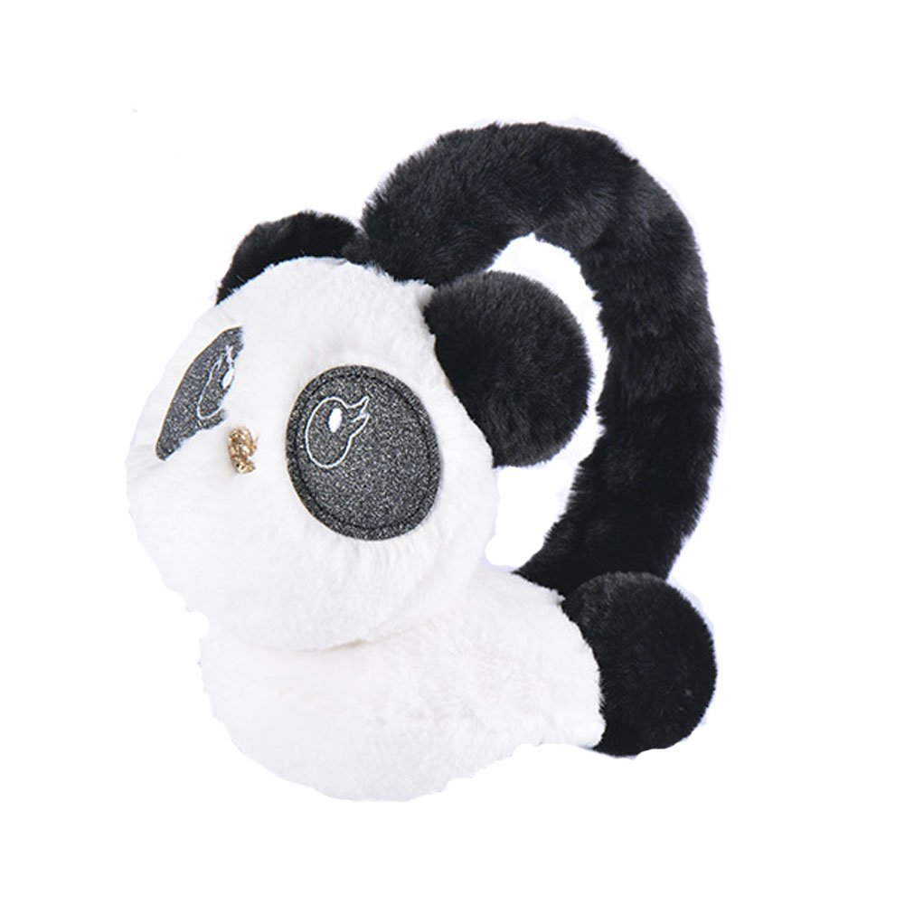RuYa Kid's Girl's Earmuff Cold Weather Ear Warmer Cartoon Panda Plush Keep Ears Warm