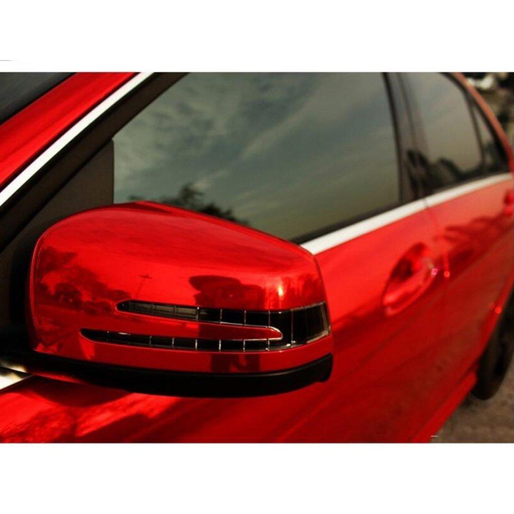 Hoho cromo metallico rosso auto Body vinyl film Wrap sticker 152,4/x 50,8/cm