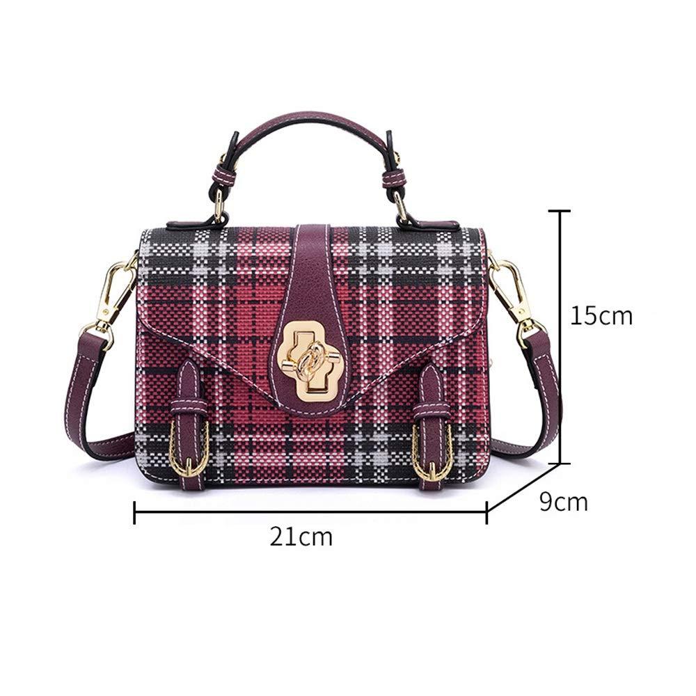 ZJDECR handväskor messengerväska vardaglig axelväska messengerväska handväska 21 x 9 x 15 cm handväska (färg: Röd) Röd