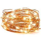 LED String Lights, Copper Wire Starry String Light, Soothing Décoration, Elegant Rope Light Suitable for Christmas, Weddings, Parties Waterproof (33' 100 LEDs) - Vont
