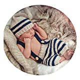 Newborn Baby Photography Props Boy Girl Crochet Costume Outfits Cute Hat Pants