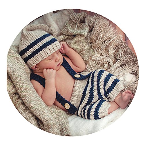 Newborn Baby Photography Props Boy Girl Crochet Costume Outfits Cute Hat -