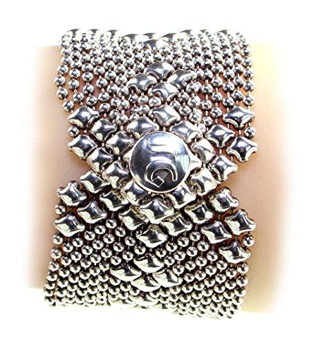 Bracelet Argent Antique b45-as SG Métal liquide par Sergio Gutierrez-SG Étui & Chiffon de nettoyage inclus