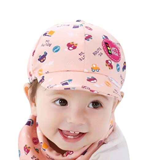 97c9faaf630 Voberry Baby Boy Kids Toddler Beret Cabbie Flat Peaked Hat River Cap (A)