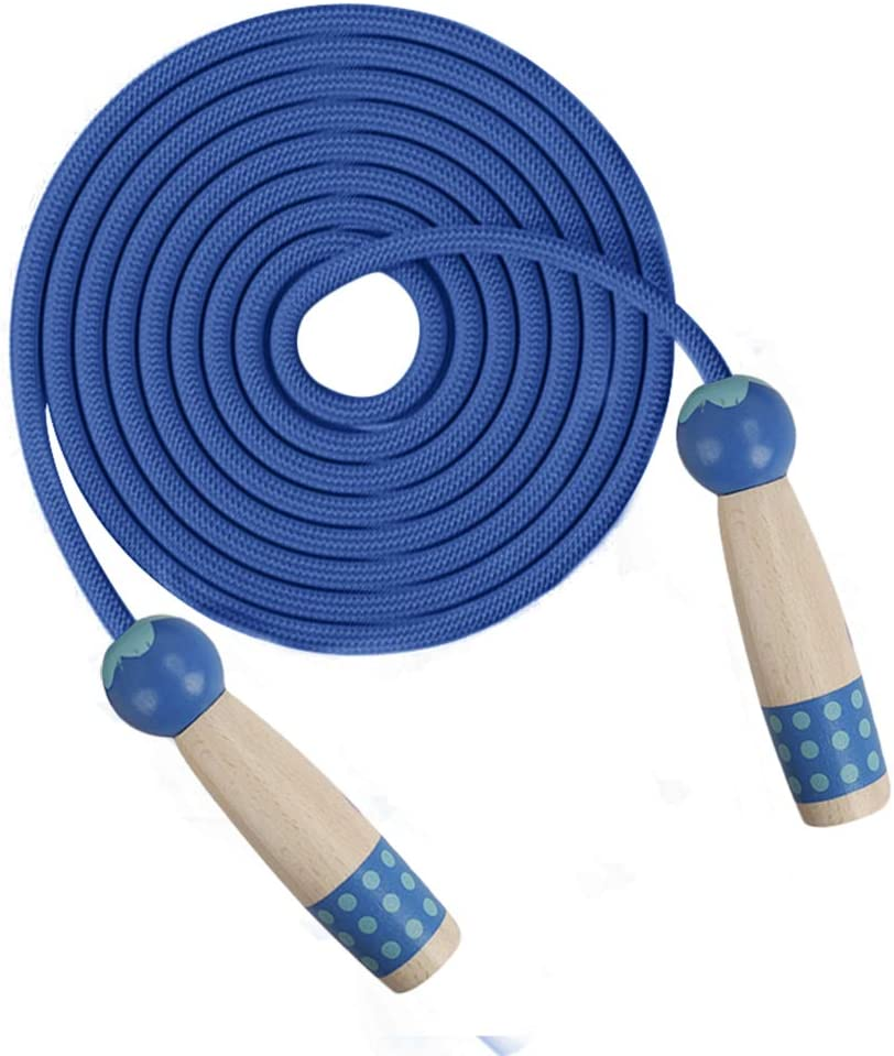AIMAIMAI Springseil Fitness Zwei Arten Von Farben Holzgriff Mit Schaum Springseil 3M Pu Seil