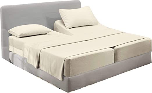 Amazon.com: Split Bed Sheet Set (5 Pieces) Adjustable Bed Sheets
