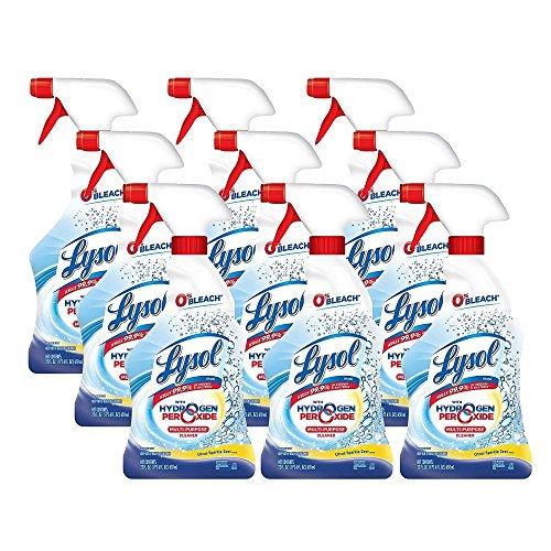 - Lysol Bleach Free Hydrogen Peroxide Multi-Purpose Cleaner Spray, Citrus, 198oz (9X22oz)