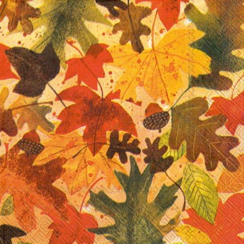 (Ideal Home Range 20 Count Decorative Paper Napkins, Cocktail, Autumn Leaves)
