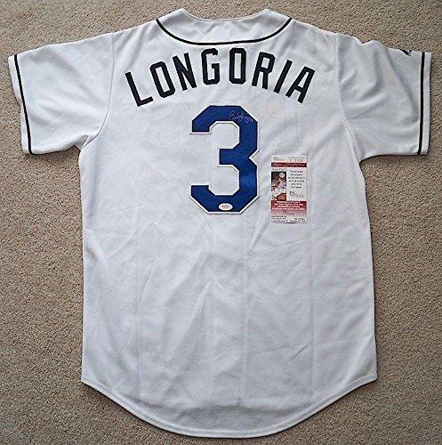 Evan Longoria Autographed Jersey - JSA Certified - Autographed MLB Jerseys