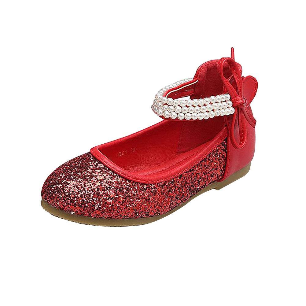 Girls Children Princess Shoes,Shiny Sequin Sparkly Anti-Slip Stage Parties Wedding Sandals