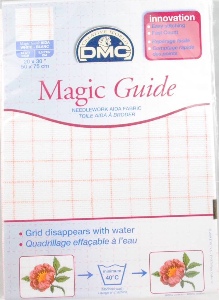 14 Count Magic Guide 20x30 Inches (50x75cm) - Blanc - DC28MG DMC DC28MG BLANC