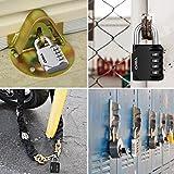 ORIA 4 Digit Combination Lock, 2 Pack Padlock for School, Employee, Gym & Sports Locker, Case, Toolbox, Fence, Hasp Cabinet & Storage - Metal & Plated Steel